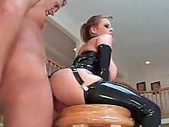 Big Boob MILF Does Anal in Latex