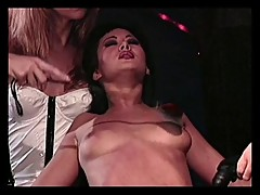 Bondage chick teased and seduced