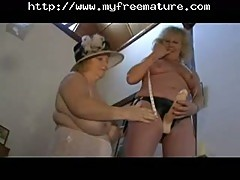 Lesbo grannies have fun