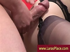 Guy burying cock deep in a mature slut