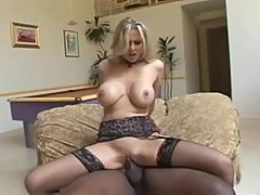Julia Ann in lingerie for his big black cock