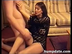 Busty brunette MILF gets fucked and defaced