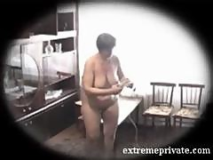 Nudist housecleaning my busty mom