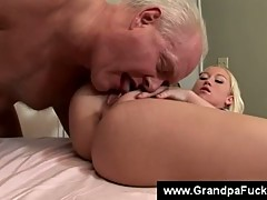 Busty Blonde Teen Riding On Hard Mature Dick