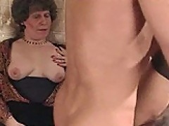 Dana - Granny masturbating while watching guy fucking old mama