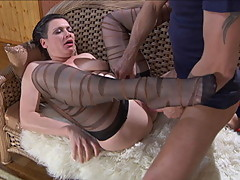Matures And Pantyhose proposes you Stocking Fucking xxx film