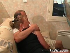 Mature couple fuck all over the house