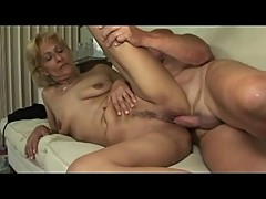 Blonde Little Saggy Titted Mature Milf Toys Sucks and Fucks
