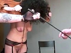 Mature with saggy tits tortured by perverse couple part 1