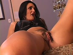 Busty Brunette MILF Lake Russell Gets Her Pussy Shaved and Creampied