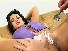 Luck horny vixen got pussy shaved with style