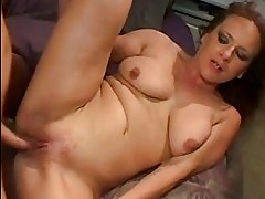 Horny hot momma Victoria Red gets boned deep in her snatch u...