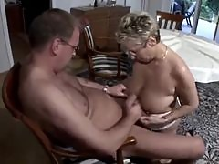 Gardener fucks the mature lady of the house