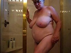 Busty Granny in Shower by snahbrandy