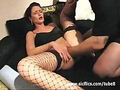 Double Feature Of A Mature Brunette Getting Fucked Hard By A Fist