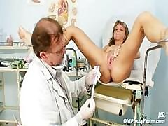 Middle-aged Female With Small Tits Gets Her Pussy Examined By Doctor