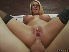 Horny Blonde Teacher Blake Rose Gets an Anal Fucking From a Student