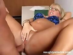 Hot Blonde Milf Teacher Gets It Going With One Of Her Students