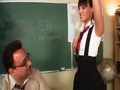 Mature Male Teacher Fucks Young Student In Class