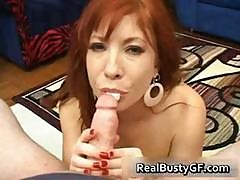 Fiery Redhead Mom With Bigboobs Sucking Part1