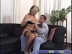 Hot cougar gives him the ride of his life