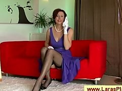 Classy mature nympho mama with stockings