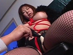 Japanese Momoko looking sexy in stockings
