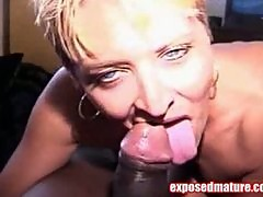 Mature Chick Munching A Black Meat