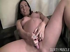 Busty Brunette Wenona Is Pregnant And Toys Her Very Horny Pussy