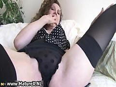 Erotic Older Lady In Sexy Lingerie Loves Part4