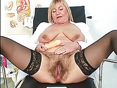 Busty lady Irma got extremly hairy pussy