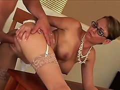 Boss screwing juice dripping secretary Holly West