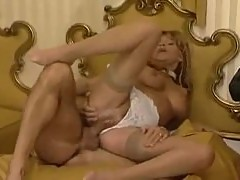 Impressive blonde milf in retro fuck