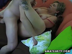 Chubby amateur wife suck and fuck with cumshot