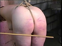 Thick bbw brunette gets pussy abused with hook and ass spanked red