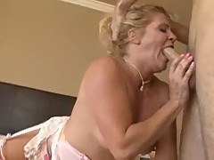 Mommy swallows big dick with her anal hole