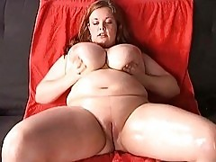 Mega breasted MILF hoe fingers her wet hungry meat hole