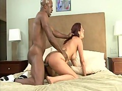Redhead MILF is internalled by a black cock