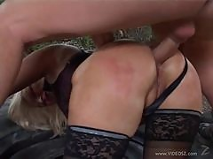 Outdoors Anal Sex For a Blonde Mature In Lingerie