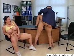 Two mature pussy sluts getting brutally f ...