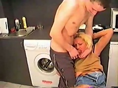 Russian Mom Fucked In Kitchen