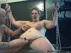 Rides Her Swing And Cumms BBW