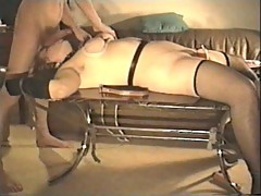 Wife bondage tits action on cam