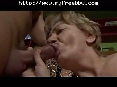 Toothless Chubby Granny Blowjob And Fuck