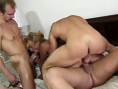 T.J. Hart DP Gangbang with 3 Guys Gets All Holes Filled