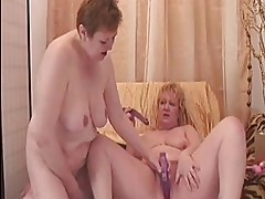 Sexy Granny Lesbians Get Off with Erotic Beads