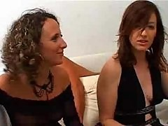 Two wet horny french MILF's in a foursome