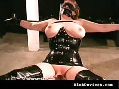 Milf Slave In Sexy Rubber Latex Suit