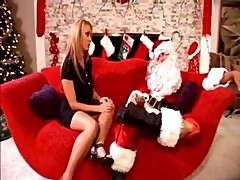Santa's Horny Elves Take Care Of His Busty Brunette Wife And Bang Her