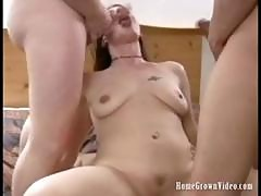 Older Lisa Sucks And Fucks Five Hard Cocks